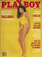 PLAYBOY JULY 1991-B - WENDY KAYE - SPIKE LEE INTERVIEW !!!