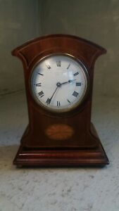 Antique Mahogany inlaid Mantel Clock