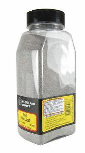 Woodland Scenics B1393 Fine Ballast Gray Blend Shaker 57.7 cu. in. for Diorama