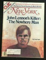 NEW YORK Magazine - June 22 1981 - MARK DAVID CHAPMAN / John Lennon Killed