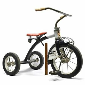 """Vintage """"AMF JUNIOR TOY CORP. TRIKES & BIKES"""" Rare Tricycle c.1950's BLACK & RED"""