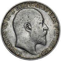 1905 FLORIN - EDWARD VII BRITISH SILVER COIN - RARE