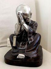 Large Beautifully Detailed Praying Buddhas Statue Adorned In Swarovski Elements