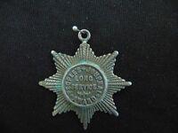 Sterling Silver Fob Vintage Art Nouveau 1898 Birmingham Inscribed  13.2 g E6