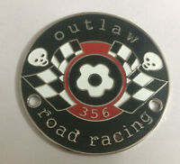 CAR BADGE-356 OUTLAW ROAD RACING CAR GRILL BADGE EMBLEM LOGOS METAL ENAMLED BADG
