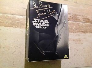 Star Wars trilogy signed Autographed by Dave Prowse Darth Vader DVD box set 2004