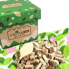 MOKULOCK WT-MLGS120-R Solid Wooden Blocks 120 Pcs Gift Set Japan with Tracking