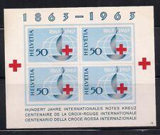 Switzerland  1963  Sc #428  Red Cross  s/s  MNH  (40837)