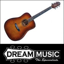 Crafter HILITE-DE Dreadnaught Vintage Gloss Electro Acoustic in Bag RRP$699