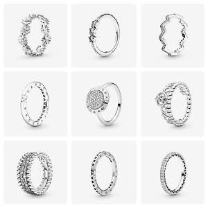 Genuine Pandora rings 925 silver-assorted  Free Pandora Bag and pouch-B01
