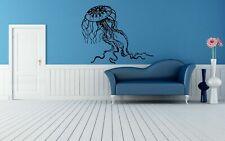 Wall Vinyl Sticker Decals Mural Room Design Art Jellyfish Ocean Fish Sea bo716