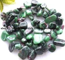 10-15mm Natural ruby zoisite flat baroque gemstone Beads 15""