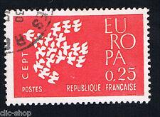 1 FRANCOBOLLO FRANCIA EUROPA CEPT ROSSO 1961 usato
