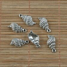 14pcs Tibetan silver conch design pendant h0197