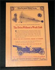 1910 OLD MAGAZINE PRINT AD, STEVENS-DURYEA MODEL Y, DRIVE WITHOUT A WEAK LINK!