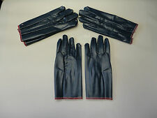 New, Free Ship, 3 Pair, Ladies Rubber/Latex Coated Garden Gloves, Small