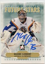 MAXIME CLERMONT OLYMPIQUES AUTOGRAPH AUTO 09/10 BETWEEN THE PIPES #54 *33722