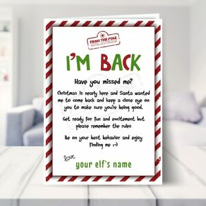 Personalised Elf Arrival Card for Kids. North Pole Elf Welcome Letter from 1 Elf