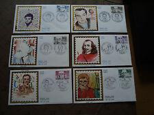 FRANCE - 6 enveloppes 1er jour 1984 (personnages celebres) (cy39) french
