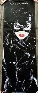 "*MINT* Vintage 1992 Batman Returns 70"" x 25"" Catwoman Door Poster by Starmakers"