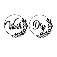 Beautiful New Washer & Dryer Decal Pack