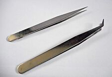 Curved or Pointed Tweezer ideal for precision work DIY , Beauty, Hobby or Craft