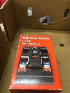 AGFA Kleberpresse F8S Automatic Super 8 Film Splicer Boxed + Instructions. Retro