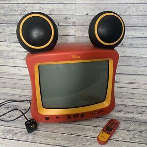 Disney Vintage Mickey Mouse TV VTG colour Television HTF
