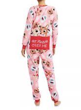 Rudolph Reindeer Pajamas Womens 3X Clarice Dropseat 1-piece Union Suit Christmas