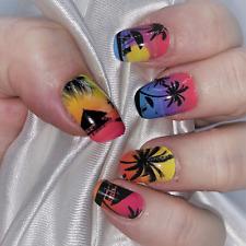 Endless Summer Rainbow color real nail polish strips Zz177 street art wraps