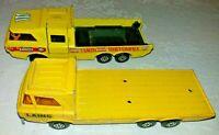 Matchbox Superkings Construction & Racing Car Transporters K7 K36 1972 & 1974