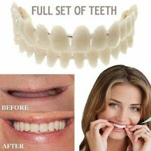 FULL SET Dental Synthetic Resin Teeth False Fake Denture Upper Lower Shade Tool