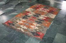 Trukish Rug Kilim Rug Vintage Kilim Rug Wool Carpet Rug Jute Rug Dhurrie 5x8 Ft