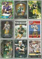 Brett Favre Green Bay Packers Vikings 9 card 2013-2015 lot-all different