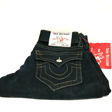 True Religion Men's Billy Relaxed Bootcut Blue With Flap Jeans 103312