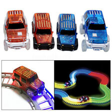 2Pcs LED Light Up Cars For Magic Pen Inductive Tracks Racetrack Electronics Toys