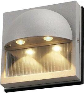 "SLV Lighting 152042U DACU 5-1/8"" Tall Integrated LED Wall Sconce Silver Gray"