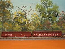 2 MICRO-TRAINS N SCALE #105020/106080 50' STEEL SIDE GONDOLAS PENNSYLVANIA  (4)