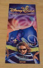 1990's TRAVEL Brochure 'WALT DISNEY WORLD' Disney QUEST the Ultimate ADVENTURE~