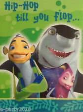 SHARK TALE INVITATIONS (8) ~ Birthday Party Supplies Stationery Dreamworks Cards