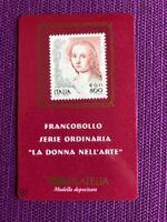 1999 TESSERA FILATELICA  DONNA NELL'ARTE DA € 0,41