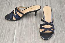 **Athena Alexander Starlight Glitter Dress Sandals, Women's Size 8M, Navy NEW