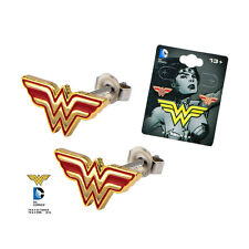 OFFICIAL DC COMICS WONDER WOMAN CUT OUT SYMBOL PAIR OF EARRINGS (BRAND NEW)
