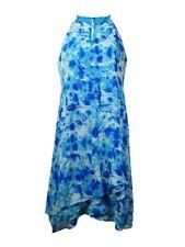 Calvin Klein Women's Keyhole Trapeze Chiffon Dress