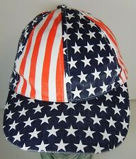 Vtg 1990s USA UNITED STATES AMERICA FLAG AMERICAN SNAPBACK CAP HAT Stars Stripes