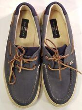 M&S Blue Harbour Blue Boat / Deck Shoes - Canvas Blue - UK 8 Excellent Condition