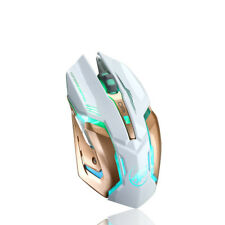 Rechargeable Wireless Silent LED Backlit USB Optical Ergonomic PC Gaming Mouse