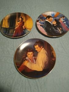 Gone With The Wind Plates. Original Boxes. Bradford Exchange