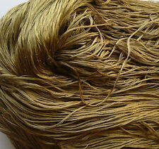 Luxury Laceweight Silk Yarn, 80g. Sage Green. For Weaving/Textile Crafts