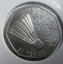 Badminton London Olympics 2012 2011 50p Fifty Pence - British Coin Hunt.